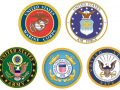 logos of the five branches of the military