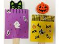 Cat and pumpkin Halloween peek-a-boo poppers.