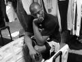 Kobe Bryant in locker room