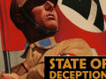 The book cover of State of Deception: The Power of Nazi Propaganda, written by Museum curators Steven Luckert and Susan Bachrach. The cover image is from a poster for the 1933 film S.A. Mann Brand.–Kunstbibliothek Berlin/BPK, Berlin/Art Resource, New York