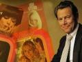 Bert Kaempfert surrounded by his album covers
