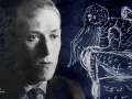 H. P. Lovecraft and his sketch of his Cthulhu